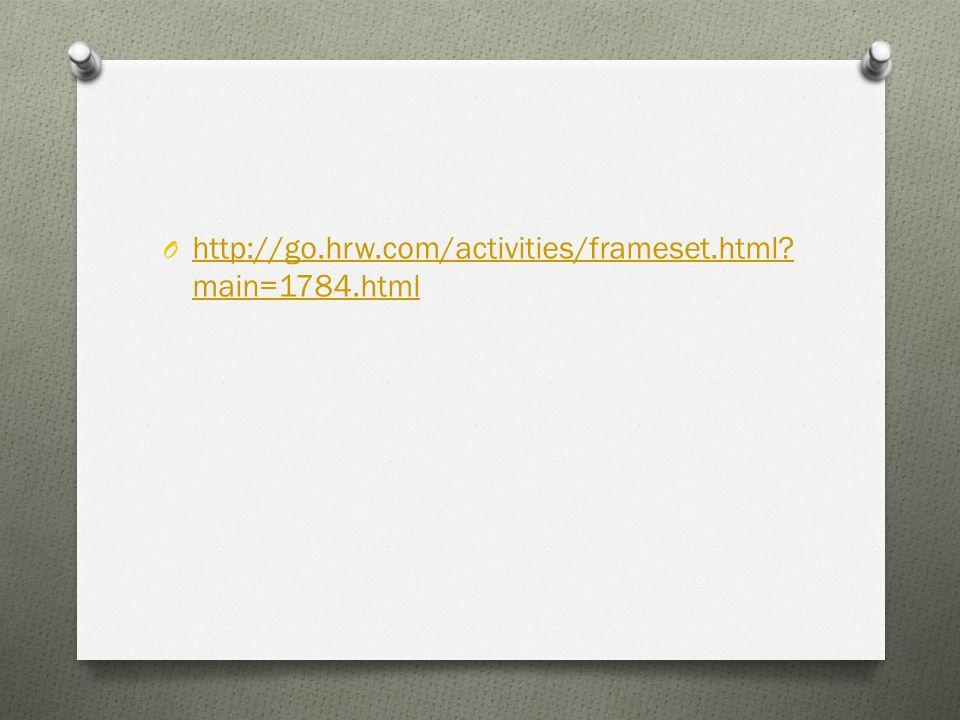 O http://go.hrw.com/activities/frameset.html.