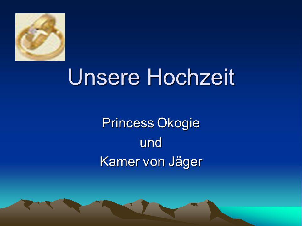 Unsere Hochzeit Princess Okogie und Kamer von Jäger