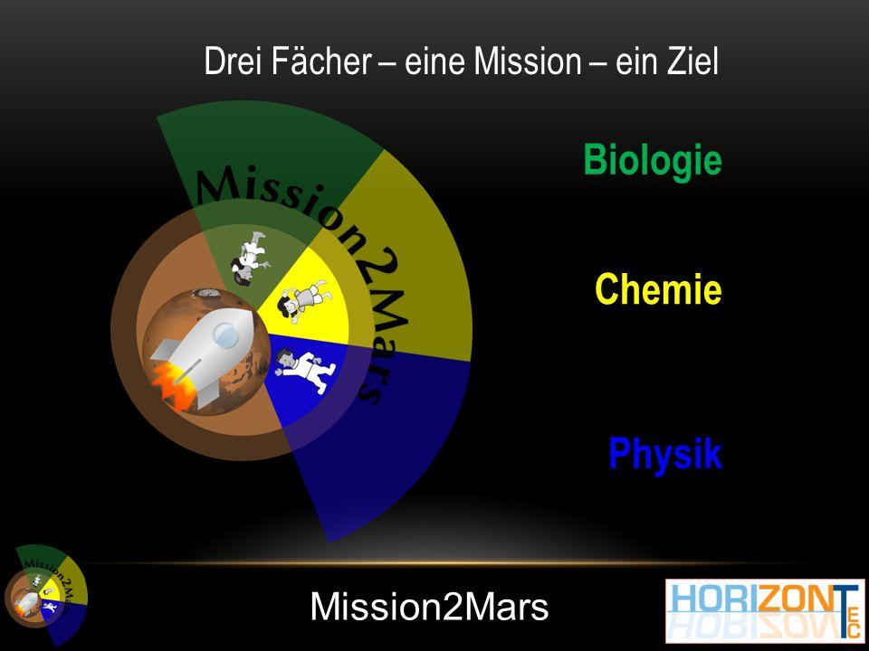 Mission2Mars Biologie Chemie Physik Drei Fächer – eine Mission – ein Ziel