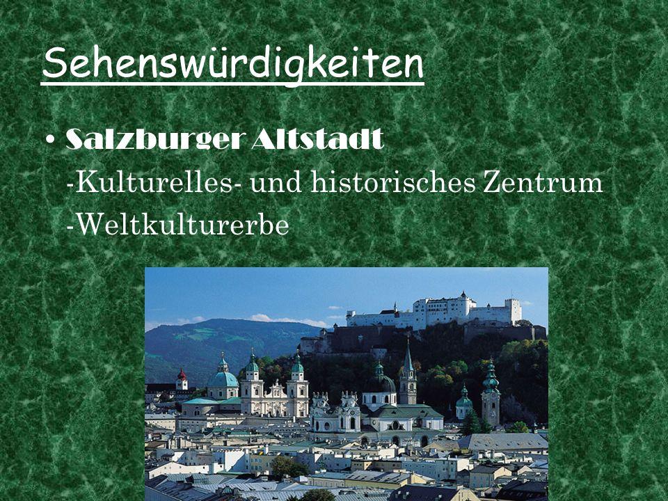Sehenswürdigkeiten Salzburger Altstadt -Kulturelles- und historisches Zentrum -Weltkulturerbe