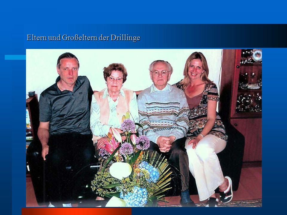 Eltern und Großeltern der Drillinge
