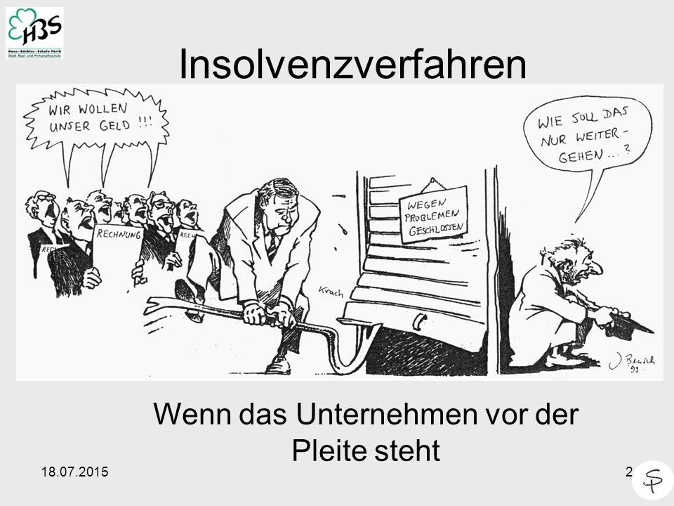 2 Insolvenzverfahren Wenn das Unternehmen vor der Pleite steht
