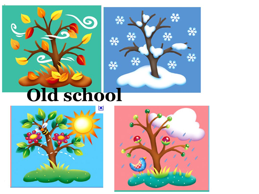 Old school meets new school When is your Birthday? (m) It's in (season)