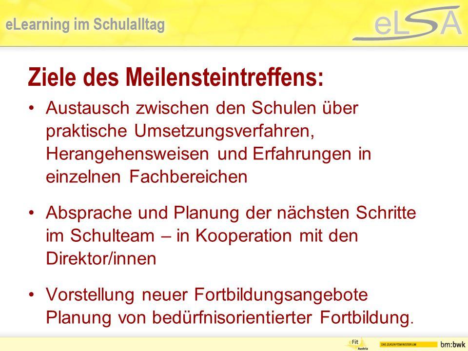Programm - Meilenstein-Meeting 1.Aktuelle Entwicklungen in ELSA 2.