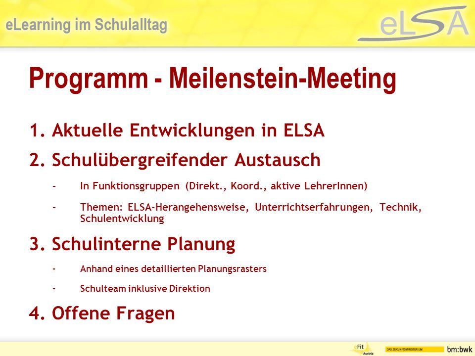Gemeinsamkeiten Gemeinsame Lernplattform Moodle beim ICE-Wien http://learn.ice-vienna.athttp://learn.ice-vienna.at eLSA-Community am Wiener Moodle- Server http://learn.ice-vienna.athttp://learn.ice-vienna.at Schulprojekt angelegt auf http://it-projekte.schule.at
