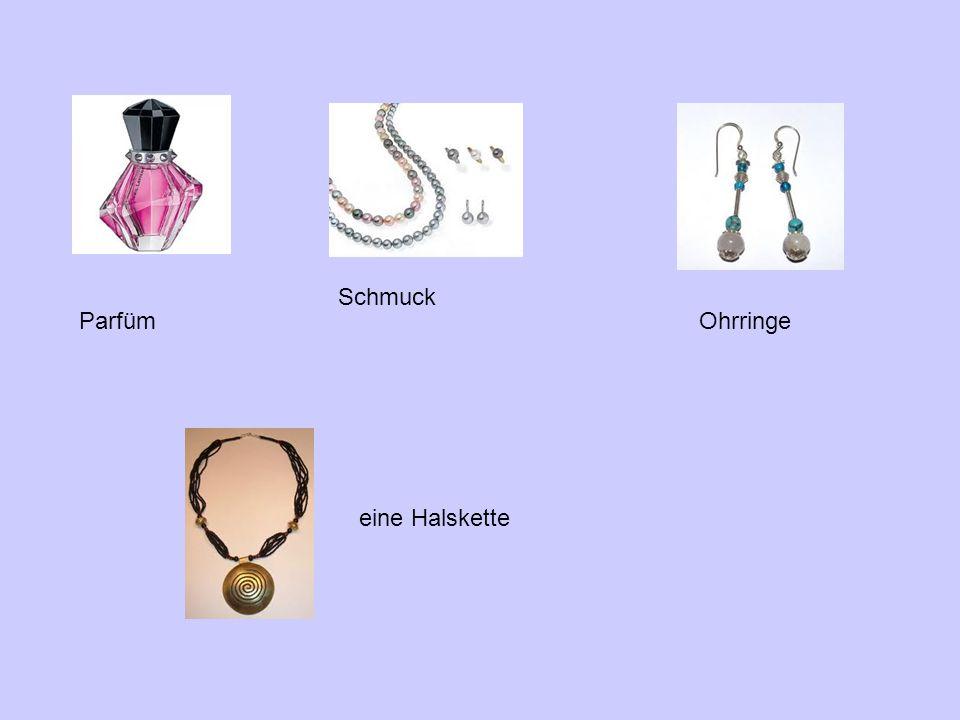 Schmuck ParfümOhrringe eine Halskette