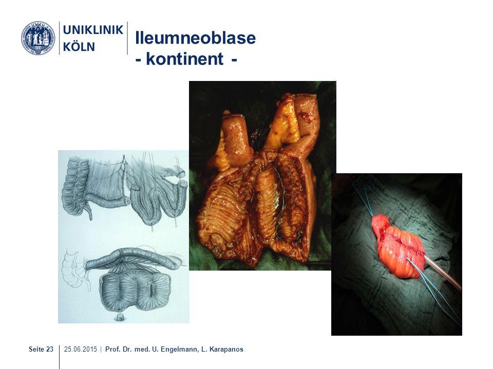 Seite 23 25.06.2015 | Prof. Dr. med. U. Engelmann, L. Karapanos 32-40 Ileumneoblase - kontinent -