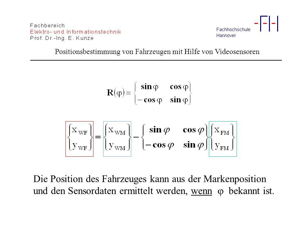 Positionsbestimmung von Fahrzeugen mit Hilfe von Videosensoren Fehlerrechnung: