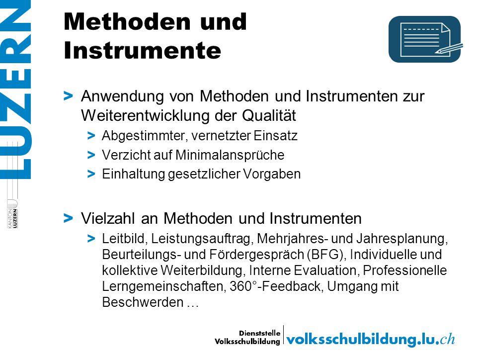 Methoden und Instrumente > Anwendung von Methoden und Instrumenten zur Weiterentwicklung der Qualität > Abgestimmter, vernetzter Einsatz > Verzicht au