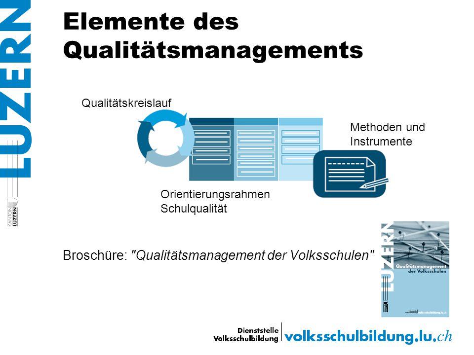Elemente des Qualitätsmanagements Broschüre: