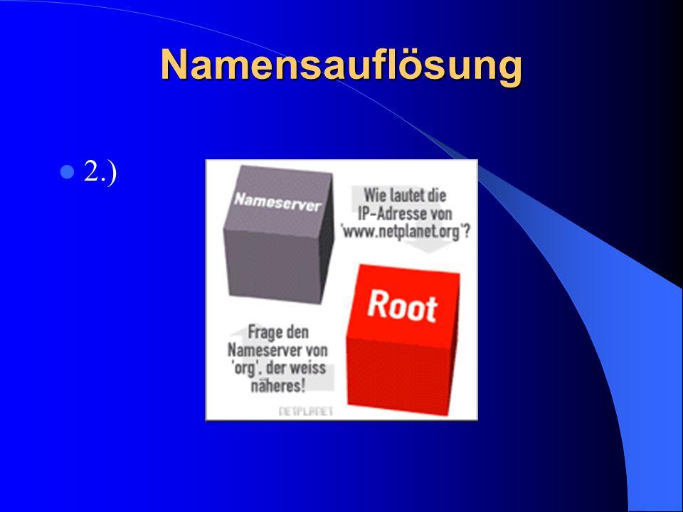 Namensauflösung 2.)