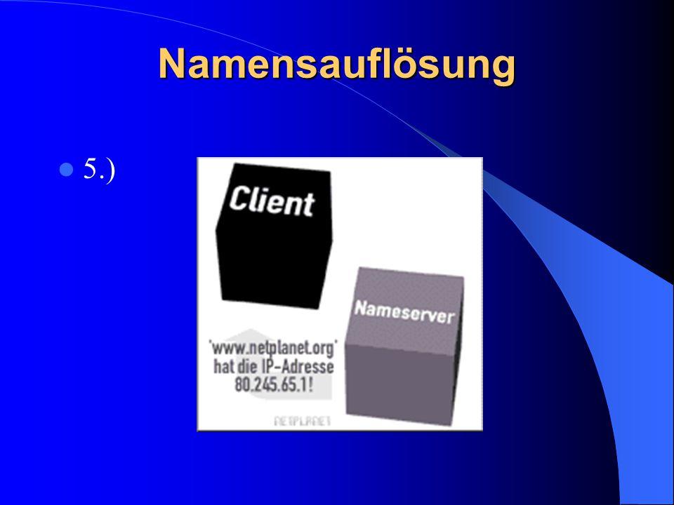 Namensauflösung 5.)