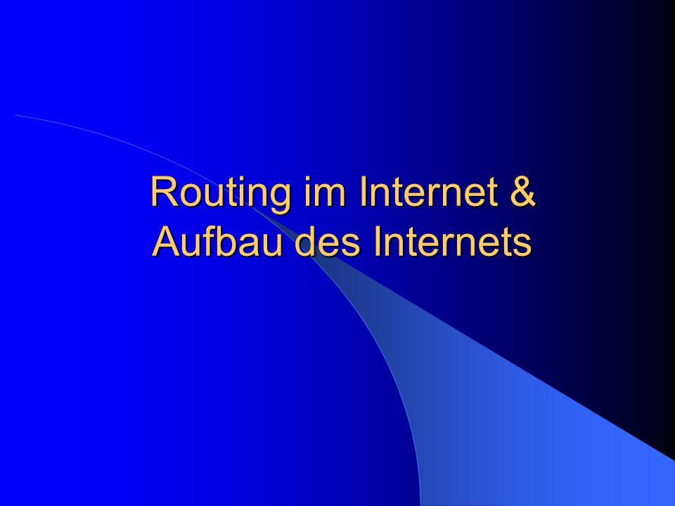 Routing im Internet & Aufbau des Internets