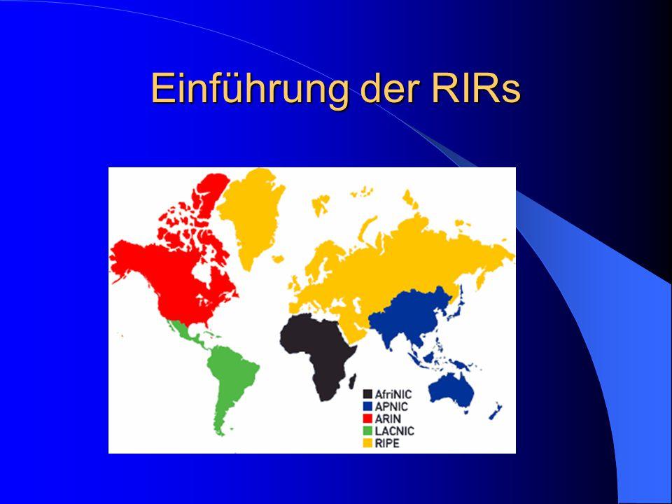 Einführung der RIRs