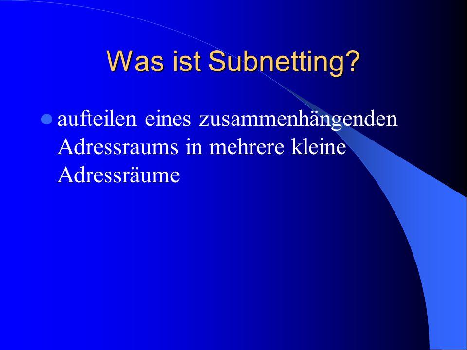 Aufbau von DNS-Adressen im Internet Bsp.Von rechts nach links lesen www, ftp, usw.