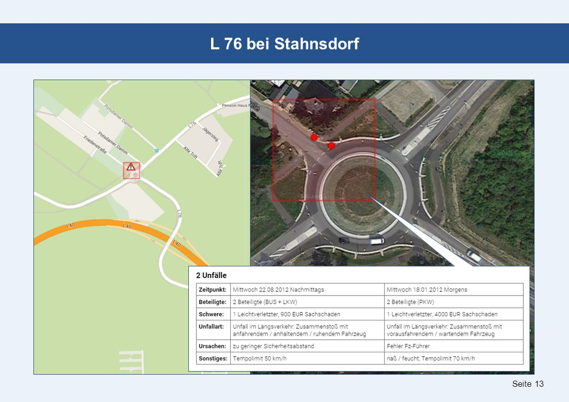 Seite 13 L 76 bei Stahnsdorf