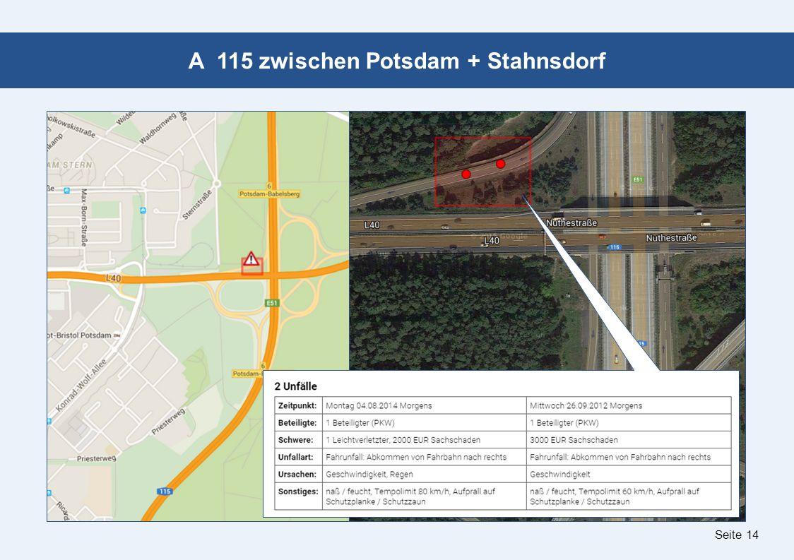 Seite 14 A 115 zwischen Potsdam + Stahnsdorf