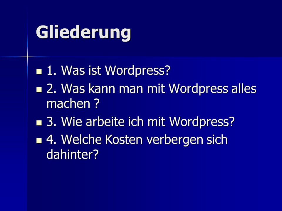 Was ist Wordpress.System zur Verwaltung der Inhalte einer Website.
