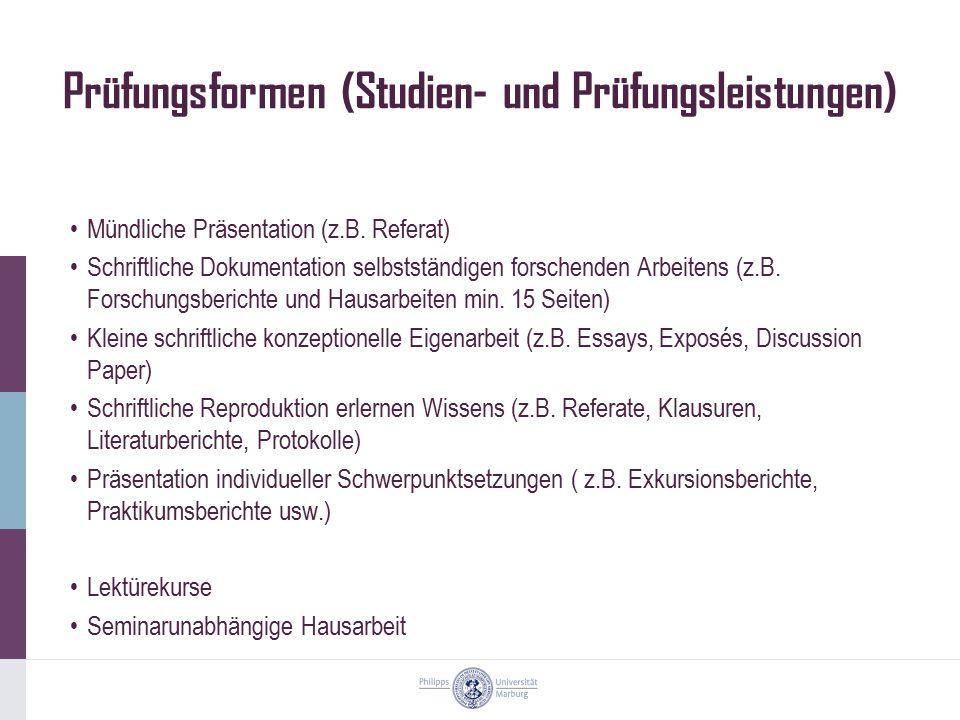Anmeldung und Abgabetermine (FB03) Anmeldung zu Veranstaltungen: LSF (Vorlesungsverzeichnis) https://qis.uni- marburg.de/qisserver/rds?state=user&type=0&topitem=&breadCrumbSource=portal&topitem=functions Prüfungsanmeldung: LSF Abgabetermine Wintersemester: 15.
