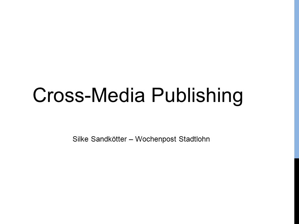 Silke Sandkötter – Wochenpost Stadtlohn Cross-Media Publishing