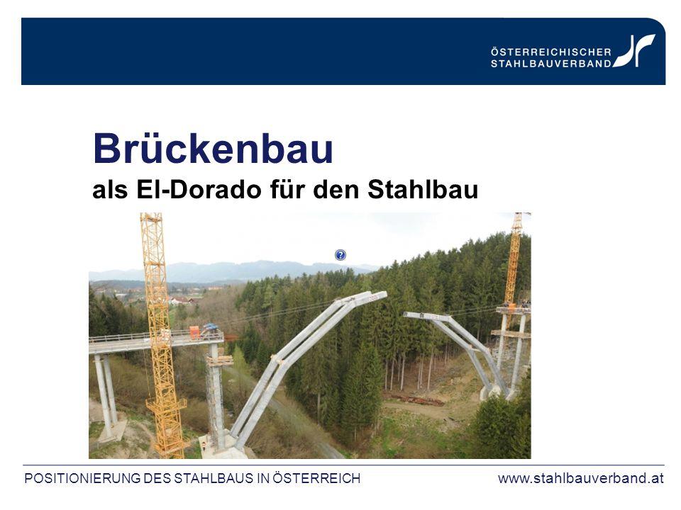 Brückenbau als El-Dorado für den Stahlbau POSITIONIERUNG DES STAHLBAUS IN ÖSTERREICH www.stahlbauverband.at