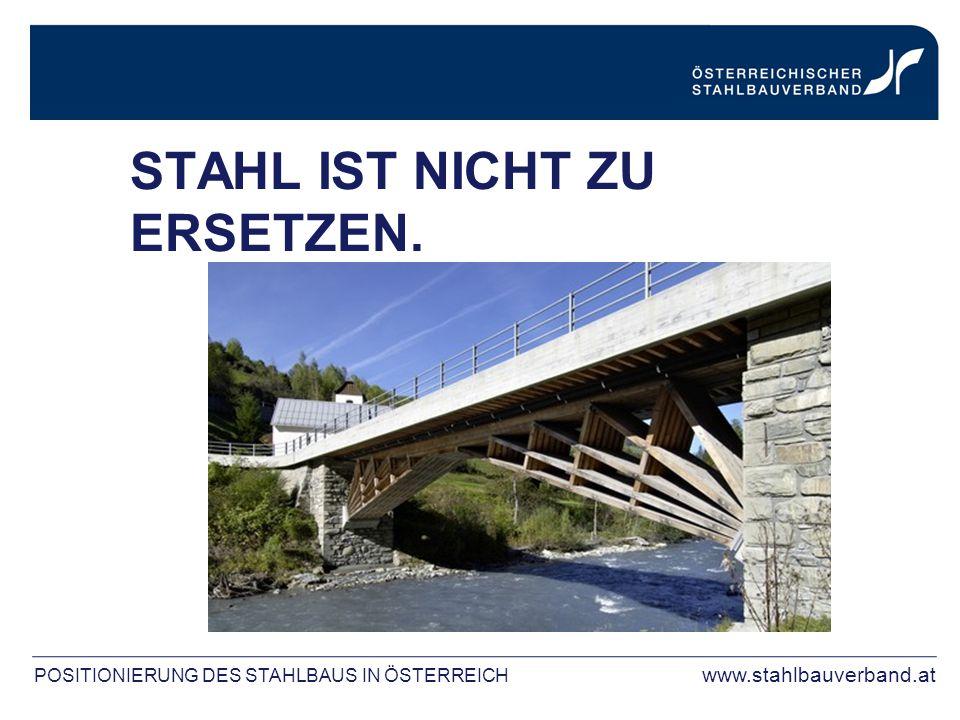POSITIONIERUNG DES STAHLBAUS IN ÖSTERREICH www.stahlbauverband.at STAHL IST NICHT ZU ERSETZEN.