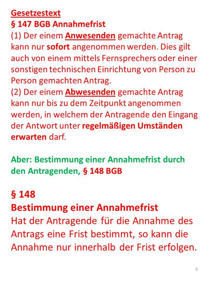 1.1.2.1.3 Grundsatz der Vertragsfreiheit Vertragliches Schuldverhältnis setzt den Abschluss eines Vertrages voraus, § 311 Abs.