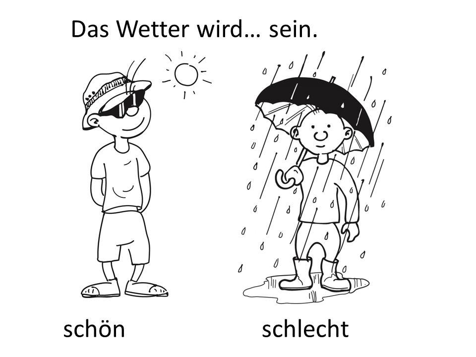Das Wetter wird… sein. schönschlecht