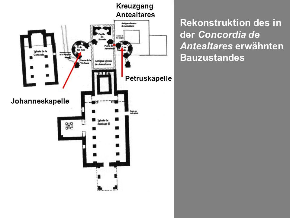 Rekonstruktion des in der Concordia de Antealtares erwähnten Bauzustandes Petruskapelle Johanneskapelle Kreuzgang Antealtares