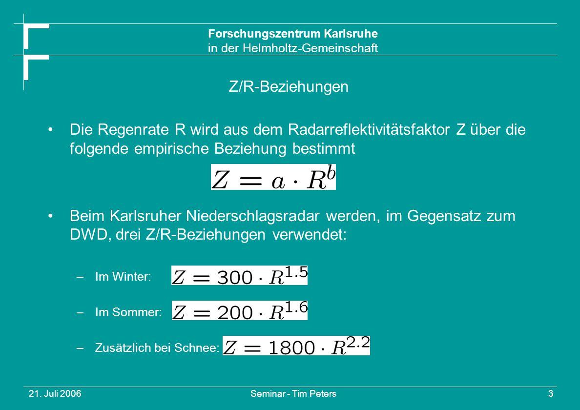 Forschungszentrum Karlsruhe in der Helmholtz-Gemeinschaft 21.