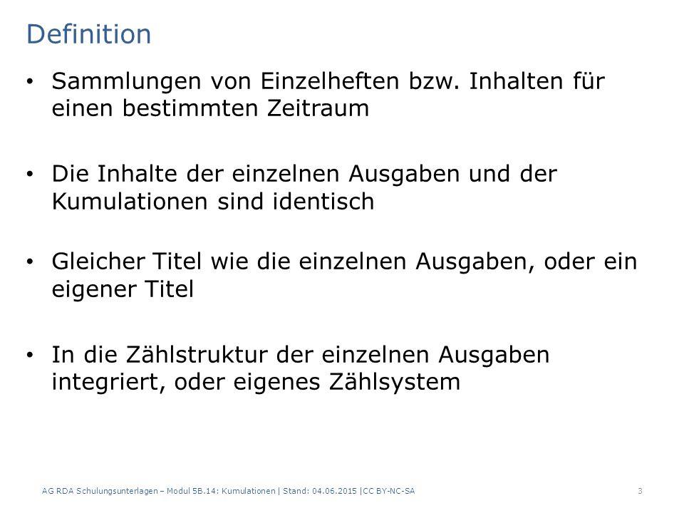 Definition Sammlungen von Einzelheften bzw.