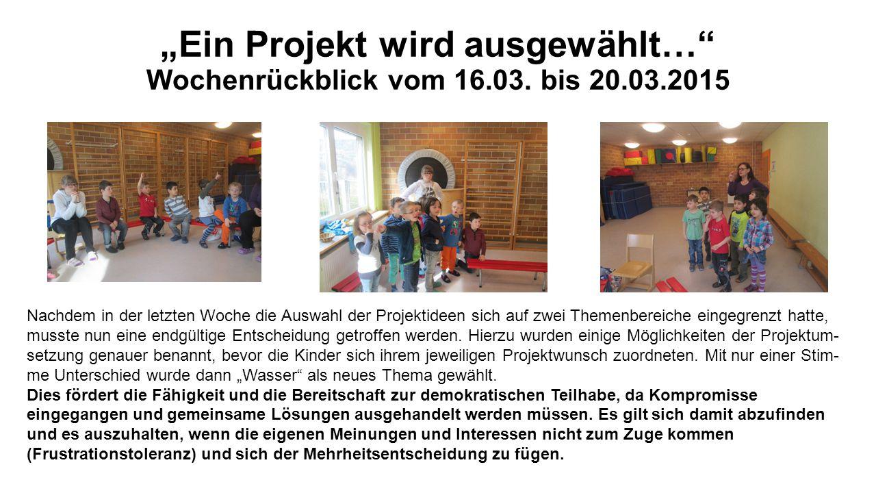 """""""Ein Projekt wird ausgewählt… Wochenrückblick vom 16.03."""