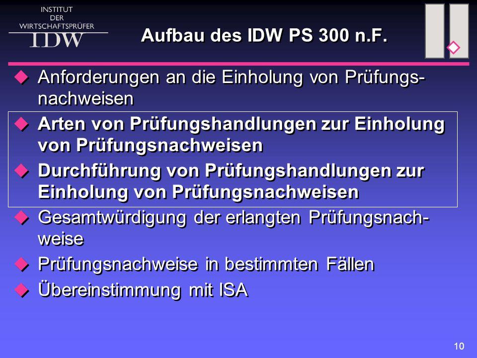 10 Aufbau des IDW PS 300 n.F.