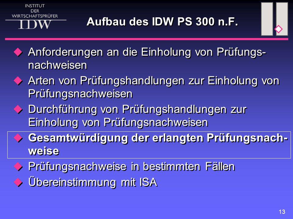 13 Aufbau des IDW PS 300 n.F.