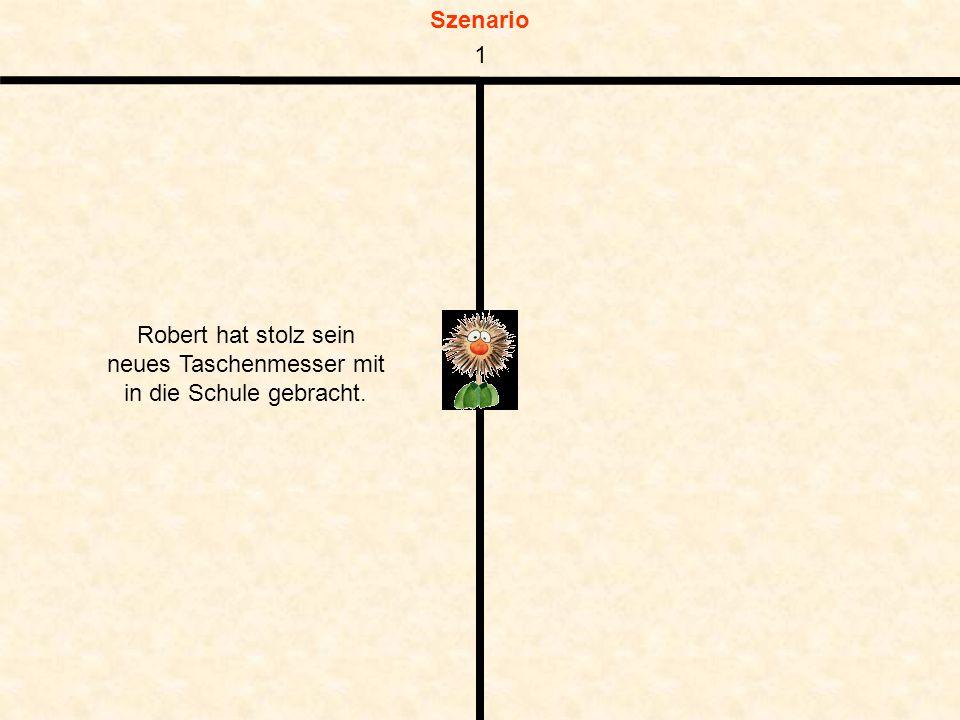 Szenario Robert hat stolz sein neues Taschenmesser mit in die Schule gebracht. 1