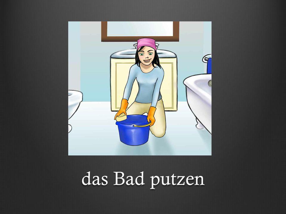 das Geschirr spülen