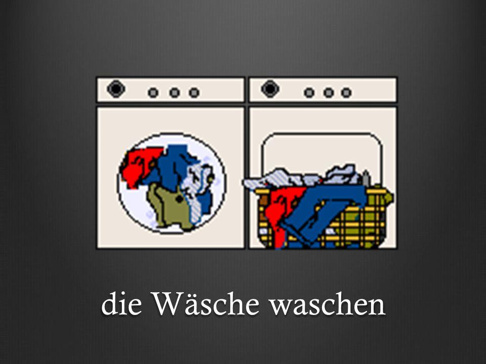 die Wäsche trocknen