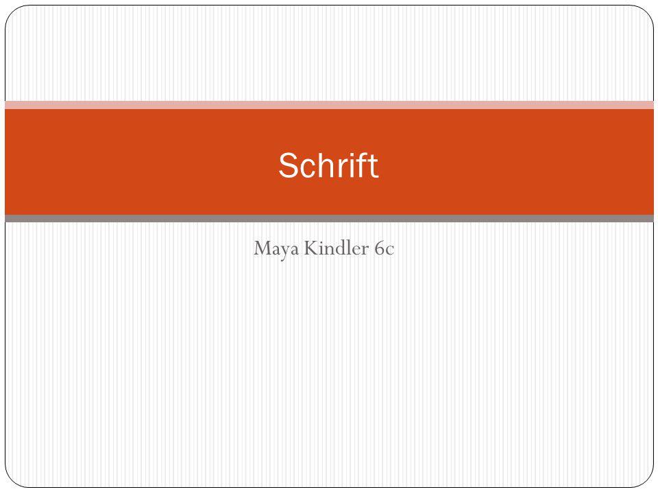 Maya Kindler 6c Schrift