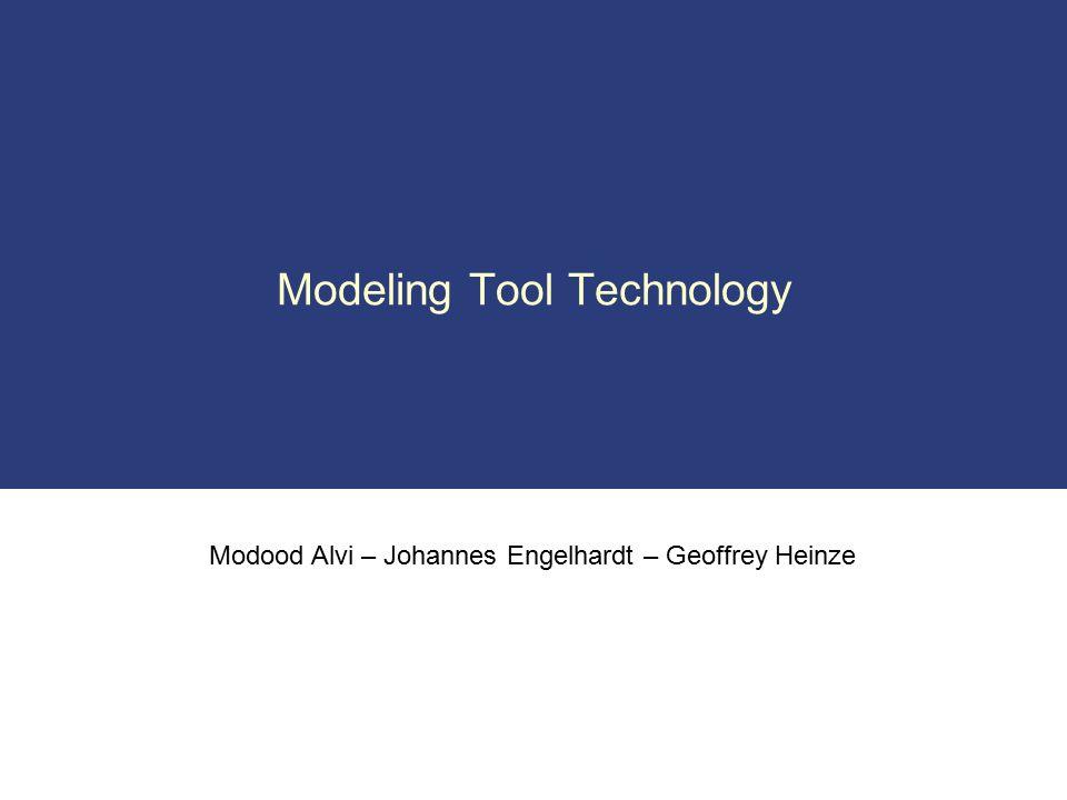 Modood Alvi – Johannes Engelhardt – Geoffrey Heinze Modeling Tool Technology