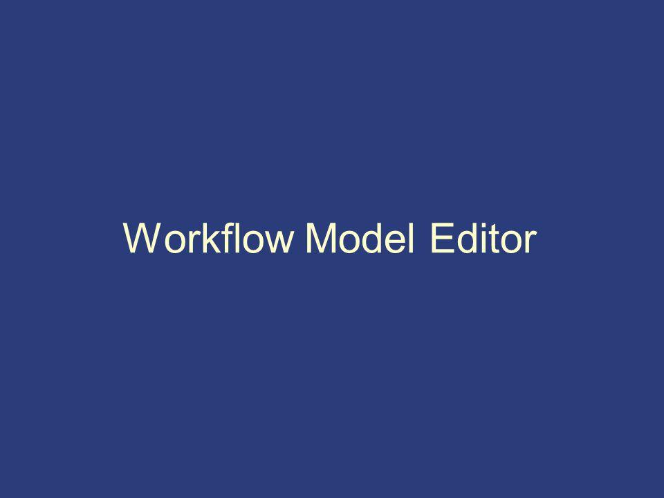 Workflow Model Editor