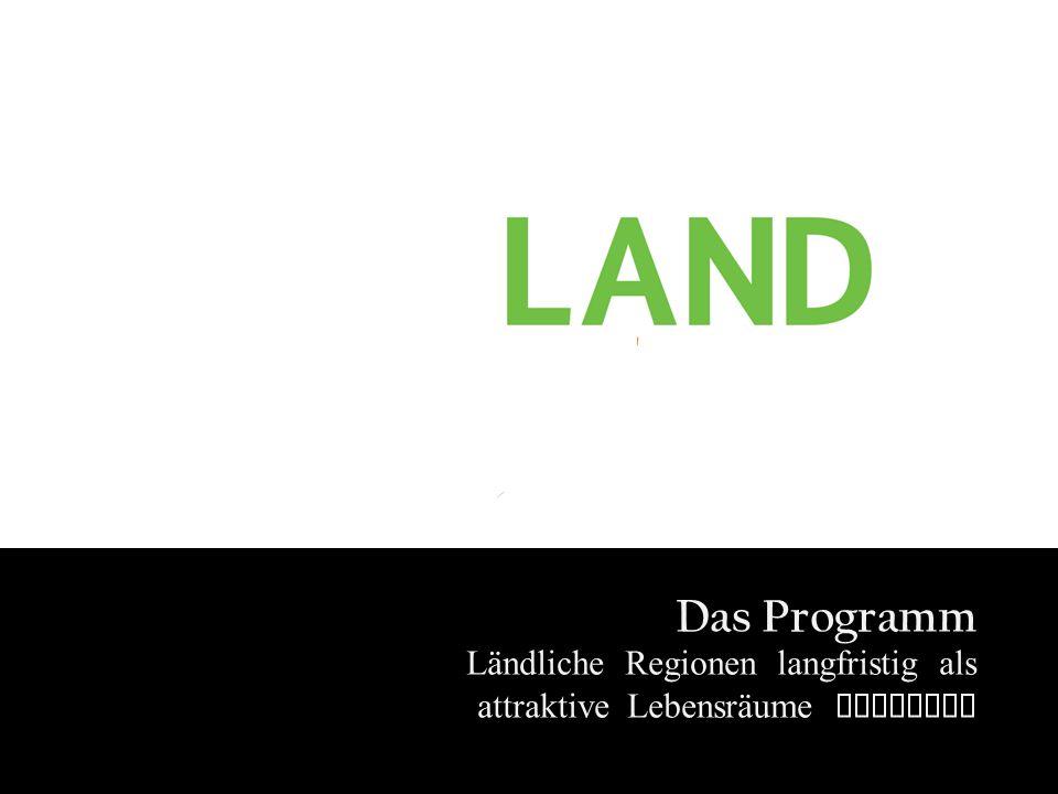 Das Programm Ländliche Regionen langfristig als attraktive Lebensräume erhalten