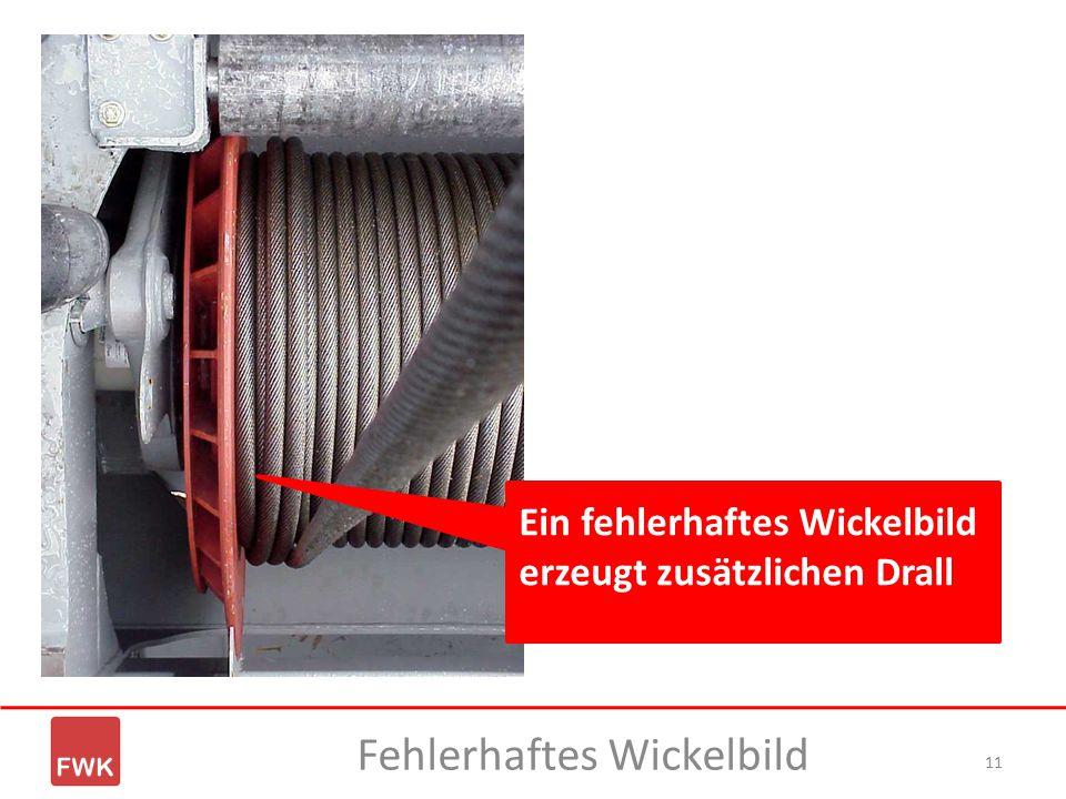 11 Fehlerhaftes Wickelbild Ein fehlerhaftes Wickelbild erzeugt zusätzlichen Drall