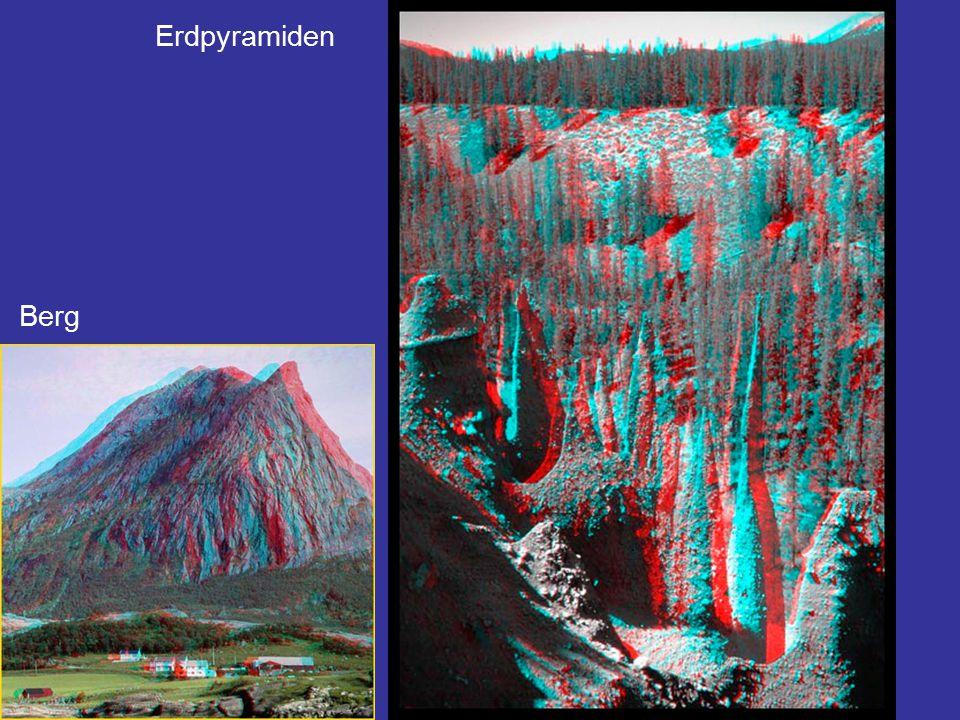 Drei Bilder (Orthofotos) mit dem selben Geländeausschnitt Die drei Bilder zeigen den selben Geländeausschnitt von 80 x 60 m.