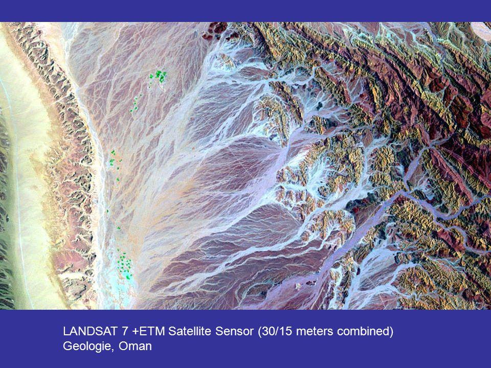 LANDSAT 7 +ETM Satellite Sensor (30/15 meters combined) Geologie, Oman