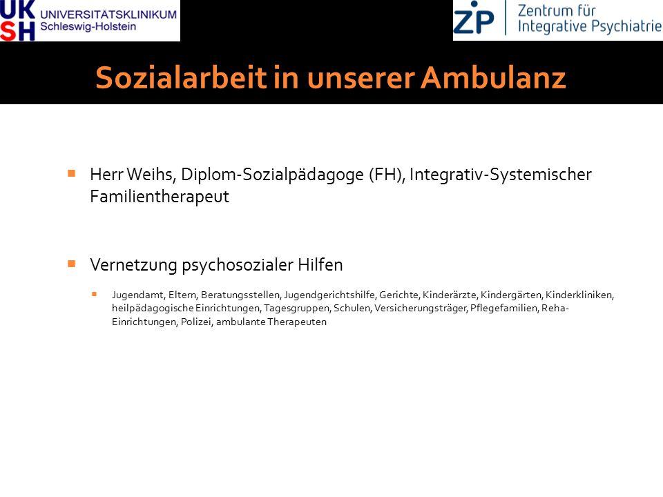DGKJP Kongress 2013, Rostock Sozialarbeit in unserer Ambulanz  Herr Weihs, Diplom-Sozialpädagoge (FH), Integrativ-Systemischer Familientherapeut  Ve