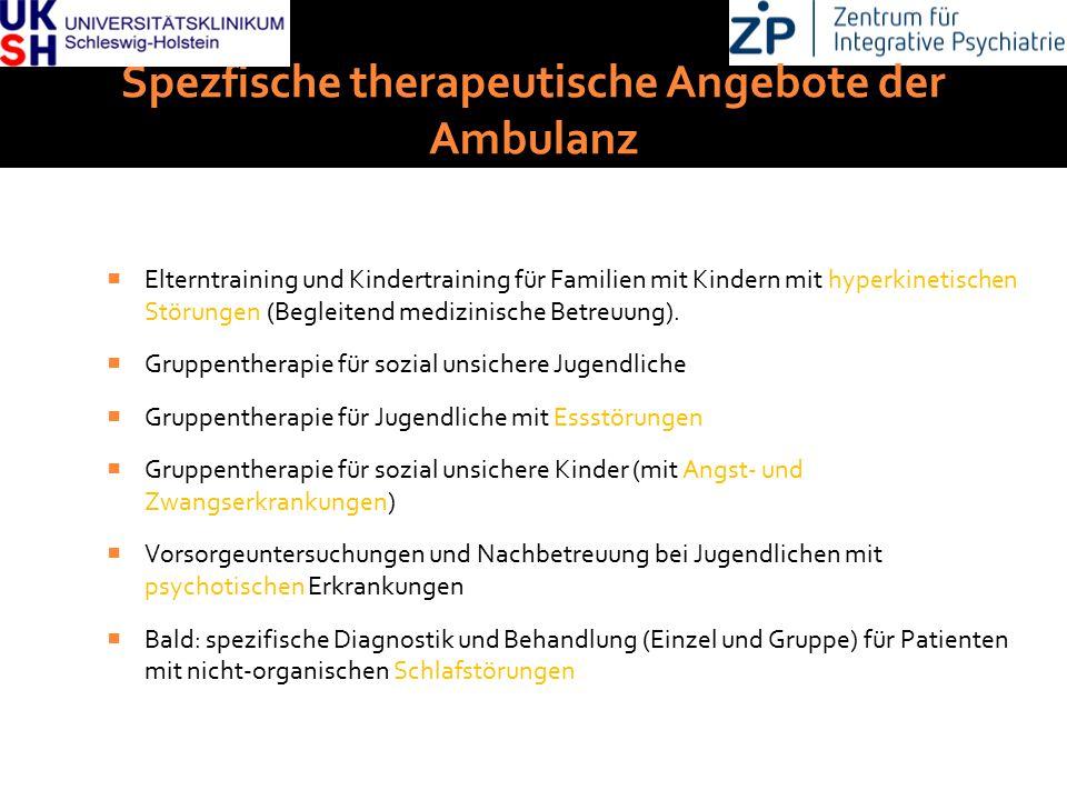 DGKJP Kongress 2013, Rostock Spezfische therapeutische Angebote der Ambulanz  Elterntraining und Kindertraining für Familien mit Kindern mit hyperkin
