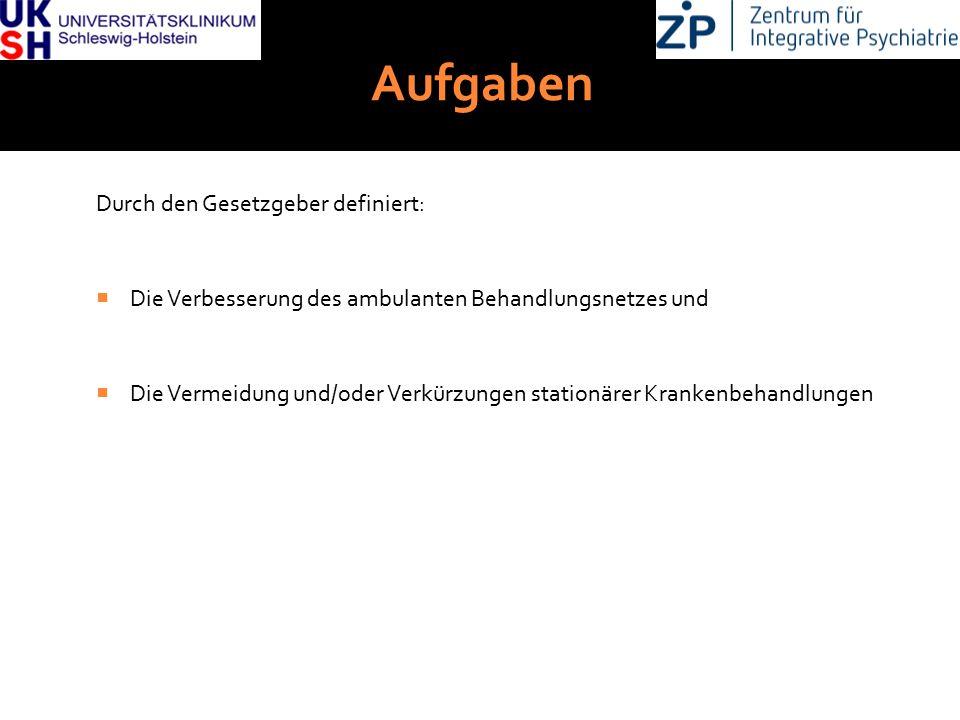 DGKJP Kongress 2013, Rostock Aufgaben Durch den Gesetzgeber definiert:  Die Verbesserung des ambulanten Behandlungsnetzes und  Die Vermeidung und/od