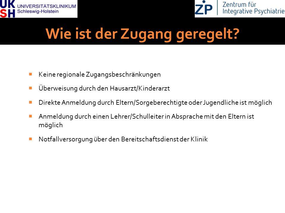 DGKJP Kongress 2013, Rostock Wie ist der Zugang geregelt?  Keine regionale Zugangsbeschränkungen  Überweisung durch den Hausarzt/Kinderarzt  Direkt