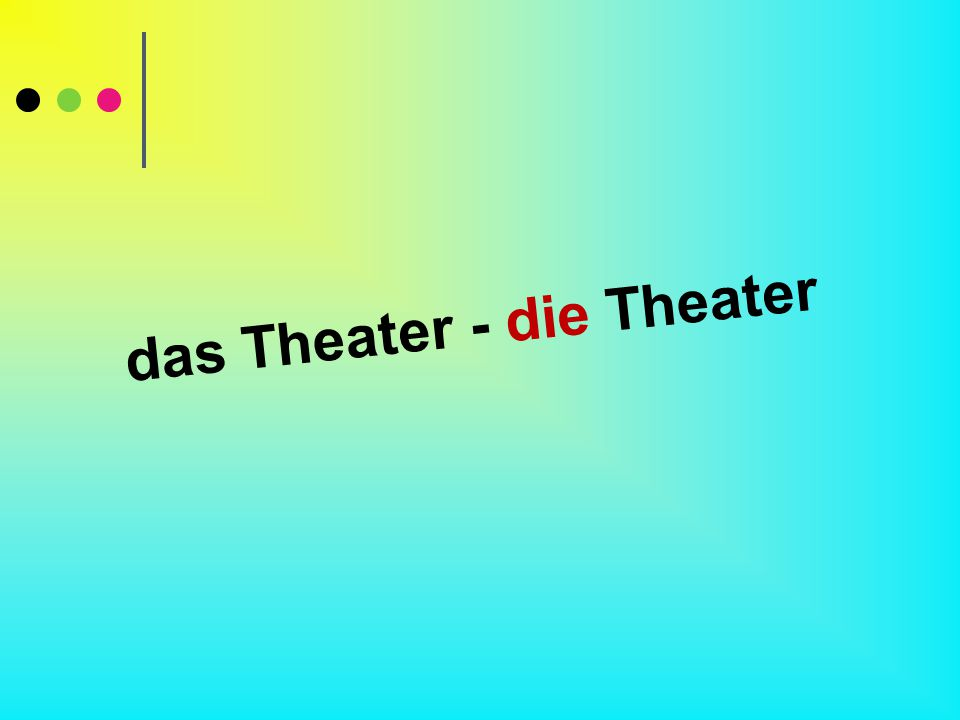 das Theater - die Theater