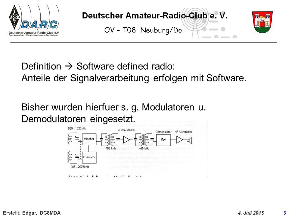 OV – T08 Neuburg/Do.Erstellt: Edgar, DG8MDA 4 4.